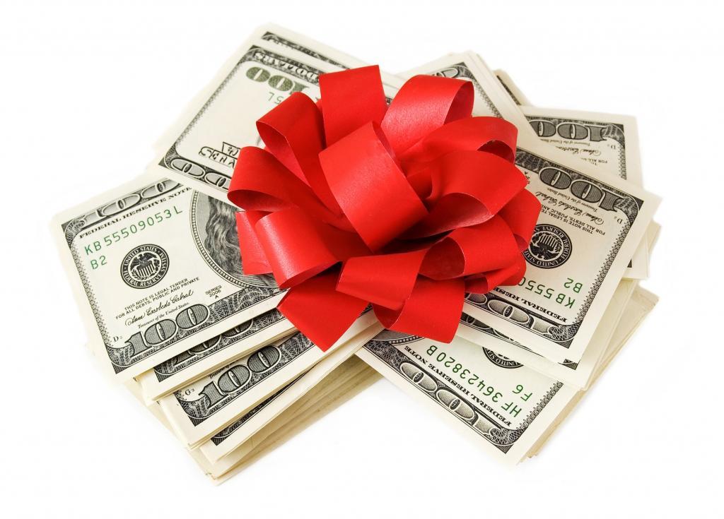 Поздравление с подарком деньги женщине