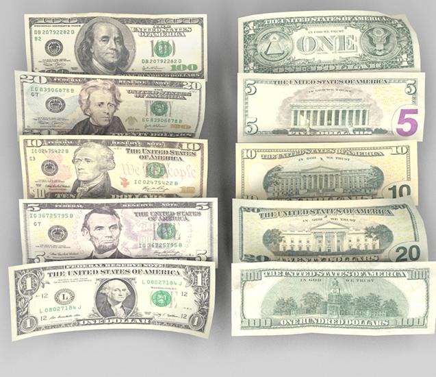 купюры доллар номиналы фото это значит
